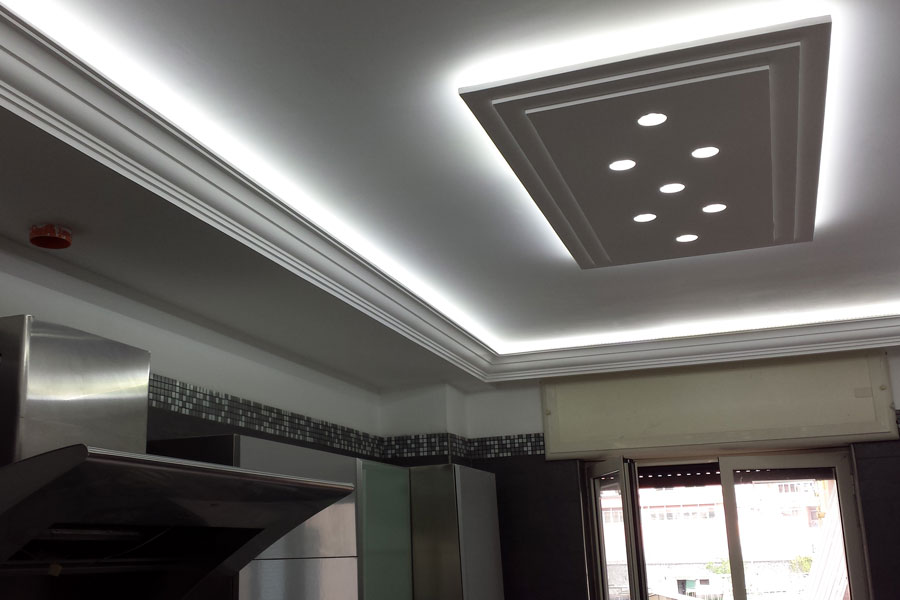 Controsoffitto a led xm48 pineglen for Controsoffitto cartongesso